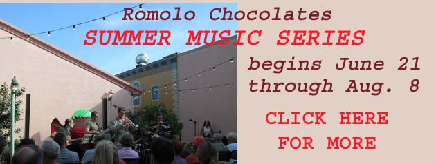 Romolo Chocolates Summer Music Series 2014