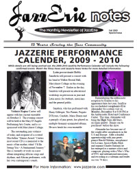 JazzErie Notes Fall Supplement