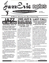 JazzErie Notes June 2009