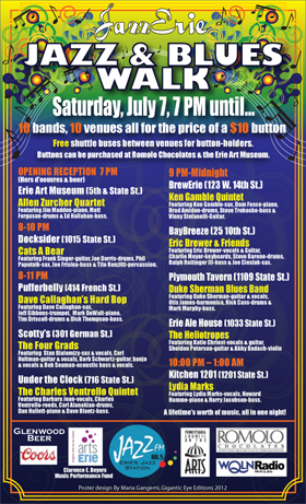 2012 Jazz & Blues Walk Poster