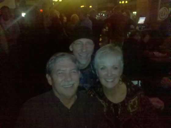 Jeff Gault, Joe Doris & Sandy Kosiorek at the Docksider.