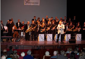 Clem DeRosa with the American Jazz Repertory Orchestra