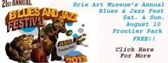 2013 Erie Art Mujseum Blues & Jazz Fest Banner