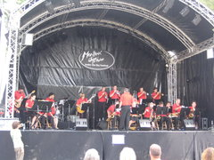 JazzErie All-Stars onstage at Montreaux Jazz Festival