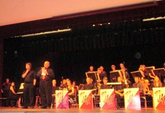 John Marszalek and the Gen. McLane student jazz band.
