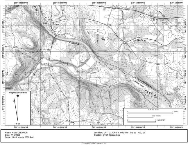 Area Topographical Map