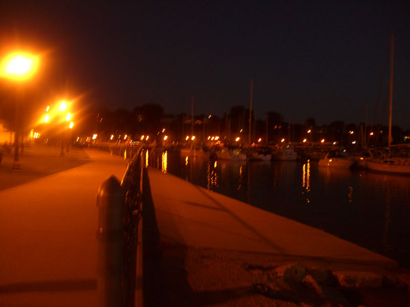 Public walkway along the waterfront