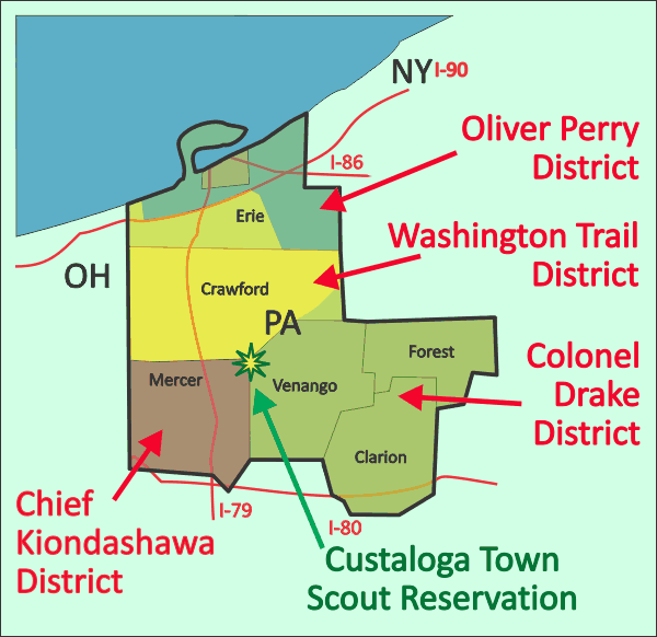 French Creek Council Service Territory