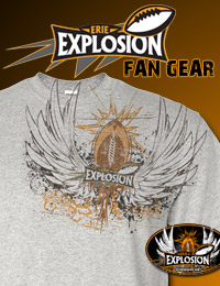 Visit the Erie Explosion Fan Gear Shop!